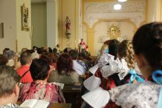 27.7.2014 - Patrocinium farnosti a pobožnost u Hýblova kříže