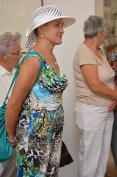23. 8. 2013 - Karel Beneš se osobně zúčastnil derniéry své výstavy ve Vlčnově