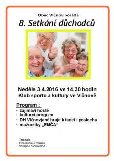 3.4.2016 - Setkání důchodců