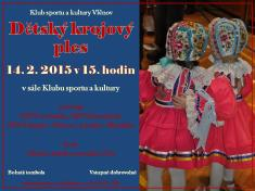 14.2.2015 - Dětský krojový ples